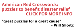 "American Red Crosswords puzzles for disaster relief. ""These are great puzzles for a great cause."" - Will Shortz"