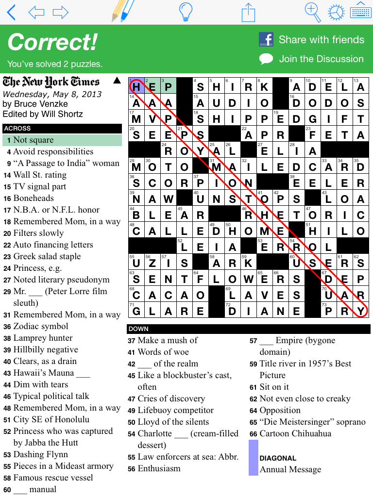 photo relating to Printable Ny Times Crossword Puzzles called Employ the service of Puzzazz in the direction of address the Fresh York Periods Crossword puzzle